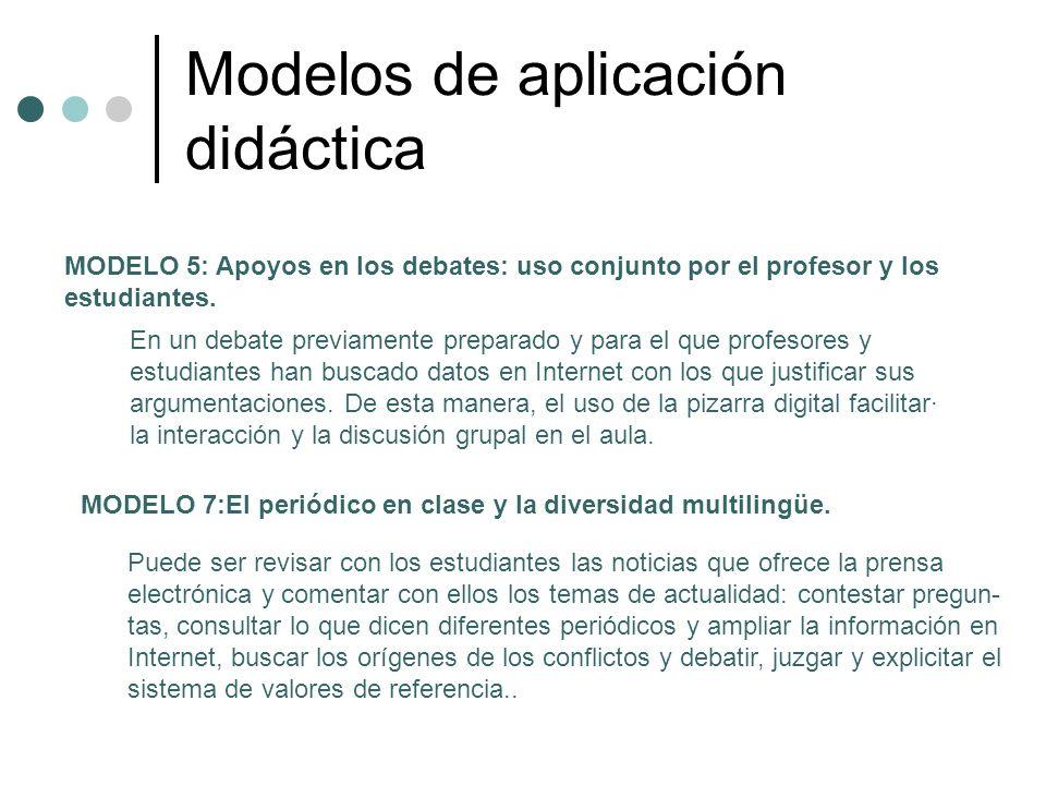 Modelos de aplicación didáctica MODELO 8: Videoconferencias y comunicaciones colectivas on-line en clase.