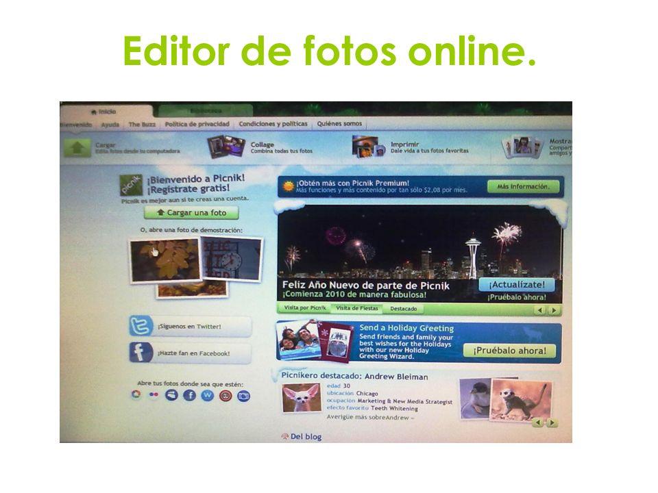 Editor de fotos online.