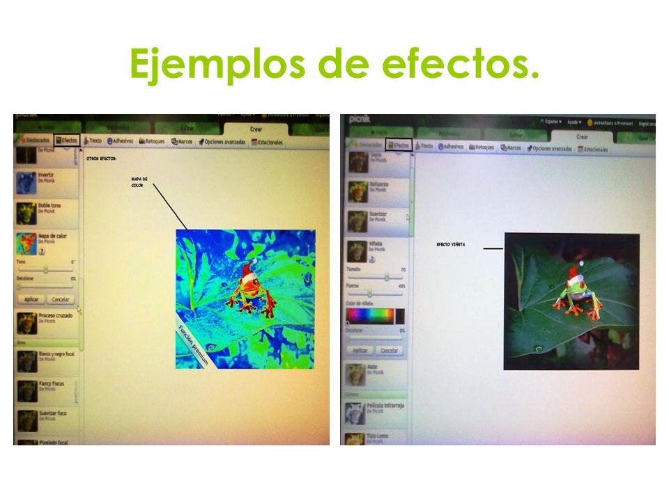 Ejemplos de efectos.
