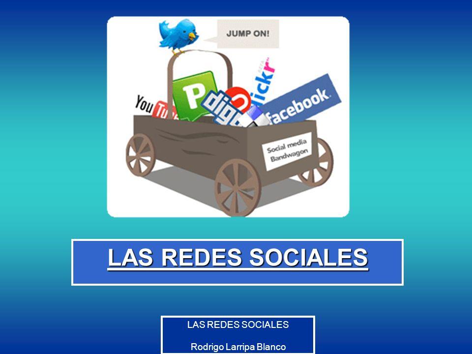 Rodrigo Larripa Blanco En la actualidad Más de 2.000.000 de sitios Web, En España más de un 80% de jóvenes utiliza alguna Red Social.