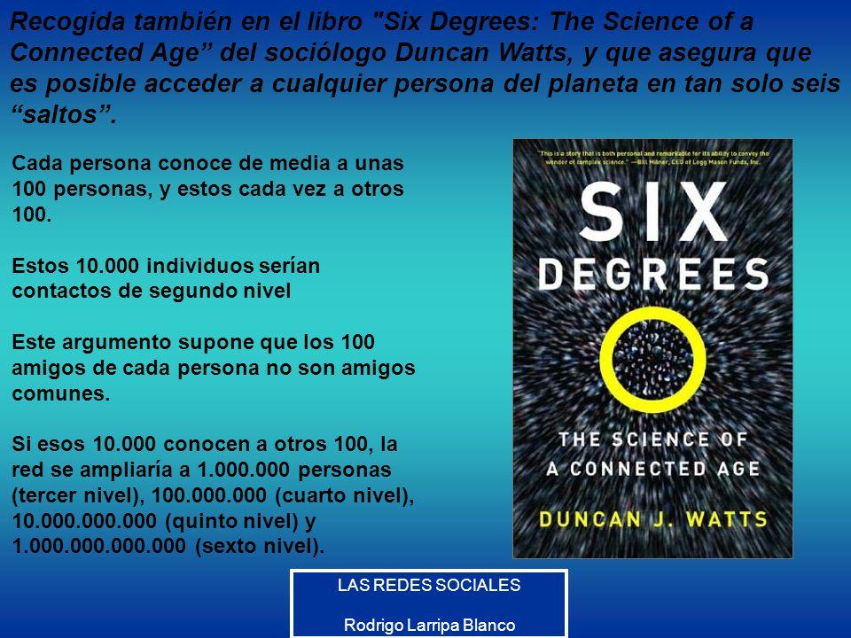 LAS REDES SOCIALES Rodrigo Larripa Blanco Recogida también en el libro