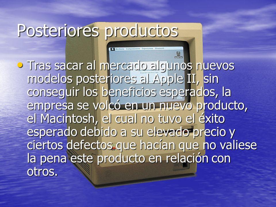 iPod En 2001 fue cuando realmente Apple comenzó a obtener grandes beneficios con la salida al mercado del primer iPod, que es un reproductor de audio digital.