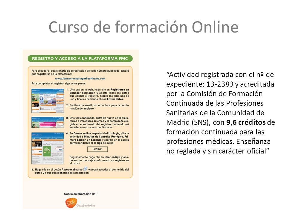 Actividad registrada con el nº de expediente: 13-2383 y acreditada por la Comisión de Formación Continuada de las Profesiones Sanitarias de la Comunidad de Madrid (SNS), con 9,6 créditos de formación continuada para las profesiones médicas.