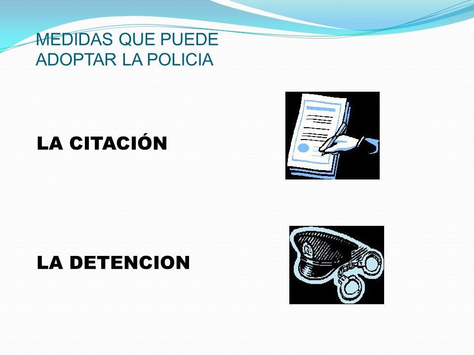 RETENCIONES PARA LA IDENTIFICACIÓN Medida intermedia entre la mera inmovilización y la detención.