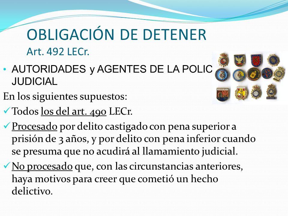 INMOVILIZACIONES Y REGISTROS Restricciones de la libertad ambulatoria, distintas de la detención.