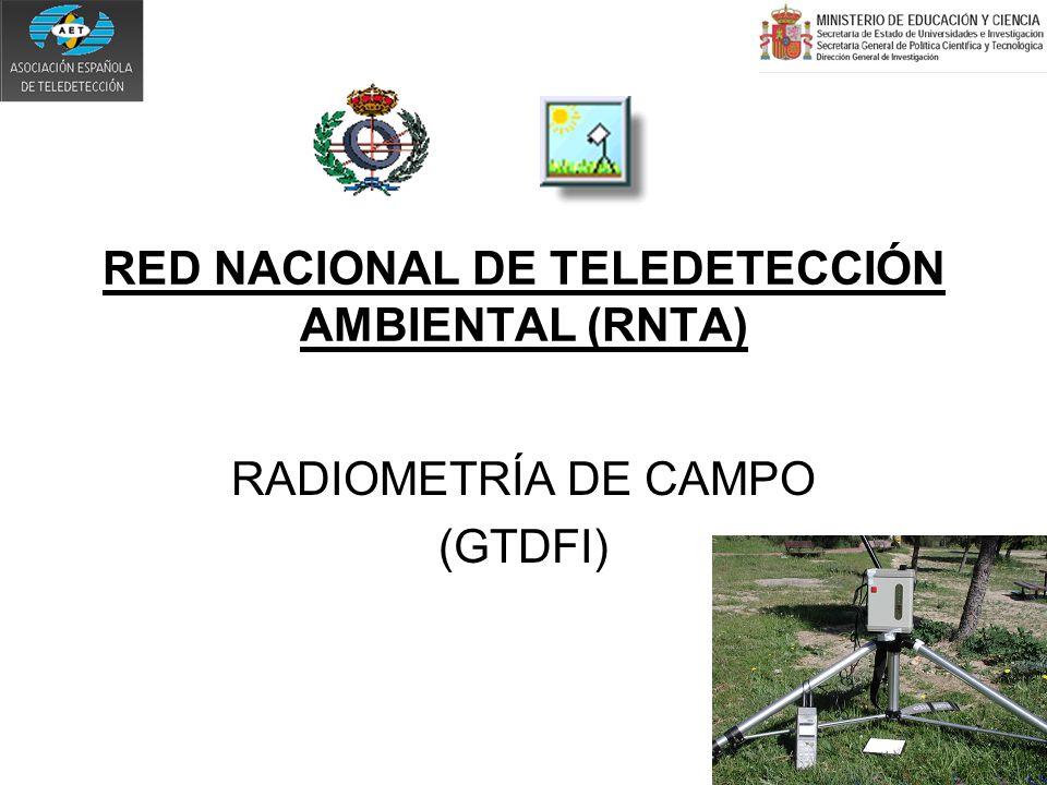 RED NACIONAL DE TELEDETECCIÓN AMBIENTAL (RNTA) RADIOMETRÍA DE CAMPO (GTDFI)