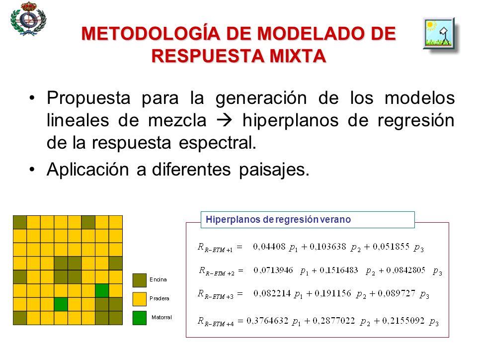 METODOLOGÍA DE MODELADO DE RESPUESTA MIXTA Propuesta de arquitecturas multicapa no lineales para el modelado de la respuesta espectral de cubiertas terrestres.