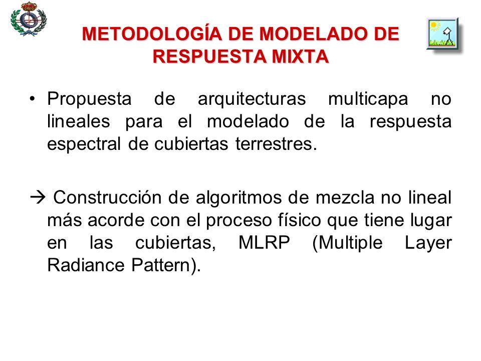 METODOLOGÍA DE MODELADO DE RESPUESTA MIXTA Propuesta de arquitecturas multicapa no lineales para el modelado de la respuesta espectral de cubiertas te