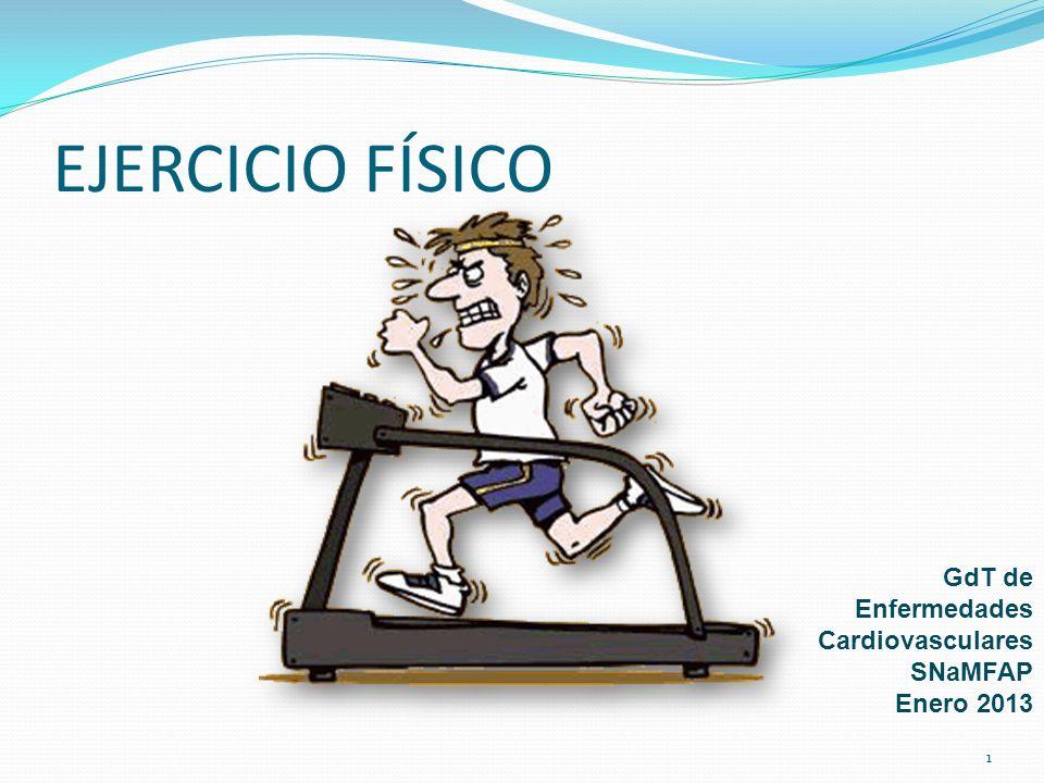 EJERCICIO FÍSICO GdT de Enfermedades Cardiovasculares SNaMFAP Enero 2013 1