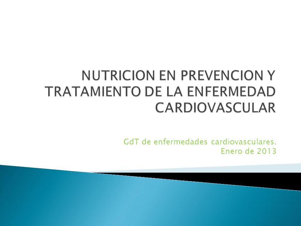 GdT de enfermedades cardiovasculares. Enero de 2013