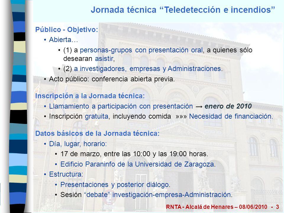 Jornada técnica Teledetección e incendios Acto Público – Conferencia previa E.