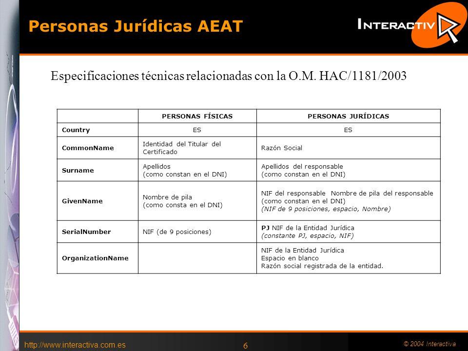 http://www.interactiva.com.es © 2004 Interactiva 5 ORDEN HAC/3134/2002, de 5 de diciembre, sobre un nuevo desarrollo del régimen de facturación telemá