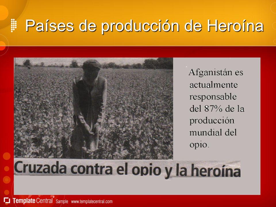 Países de producción de Heroína