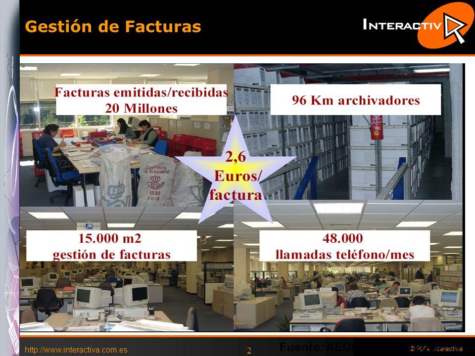 http://www.interactiva.com.es © 2004 Interactiva 2 Gestión de Facturas Fuente: AECOC, Marzo 2004