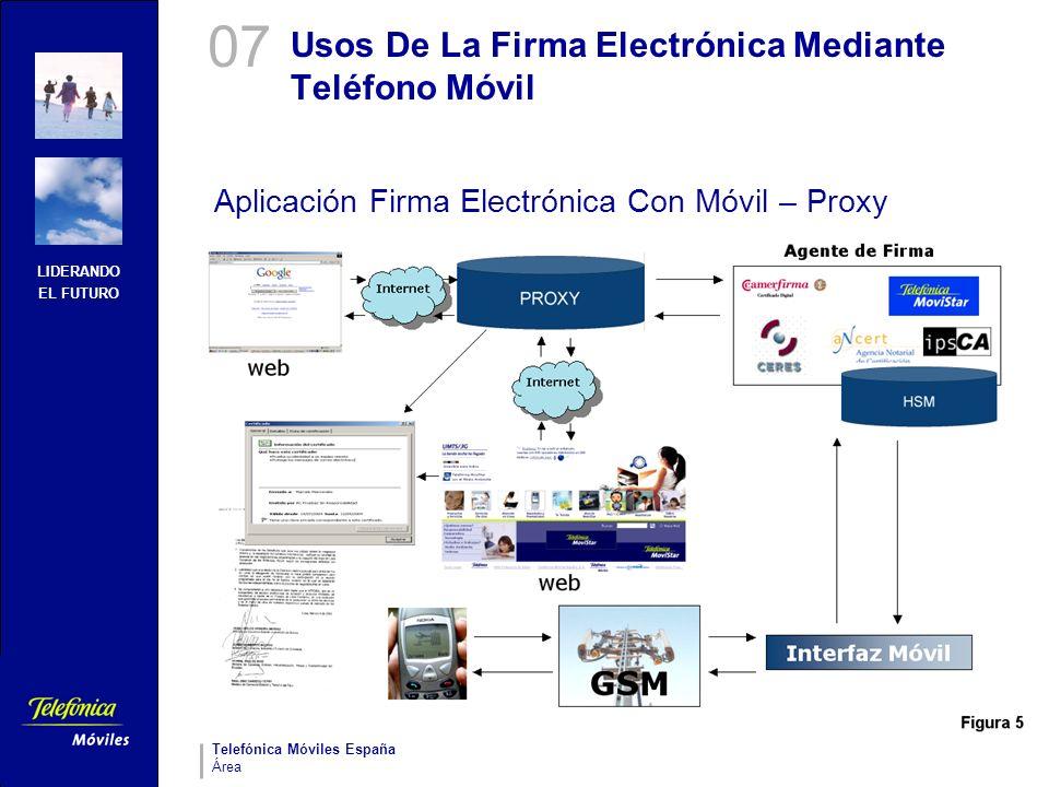 LIDERANDO EL FUTURO Telefónica Móviles España Área Usos De La Firma Electrónica Mediante Teléfono Móvil Aplicación Firma Electrónica Con Móvil – Proxy