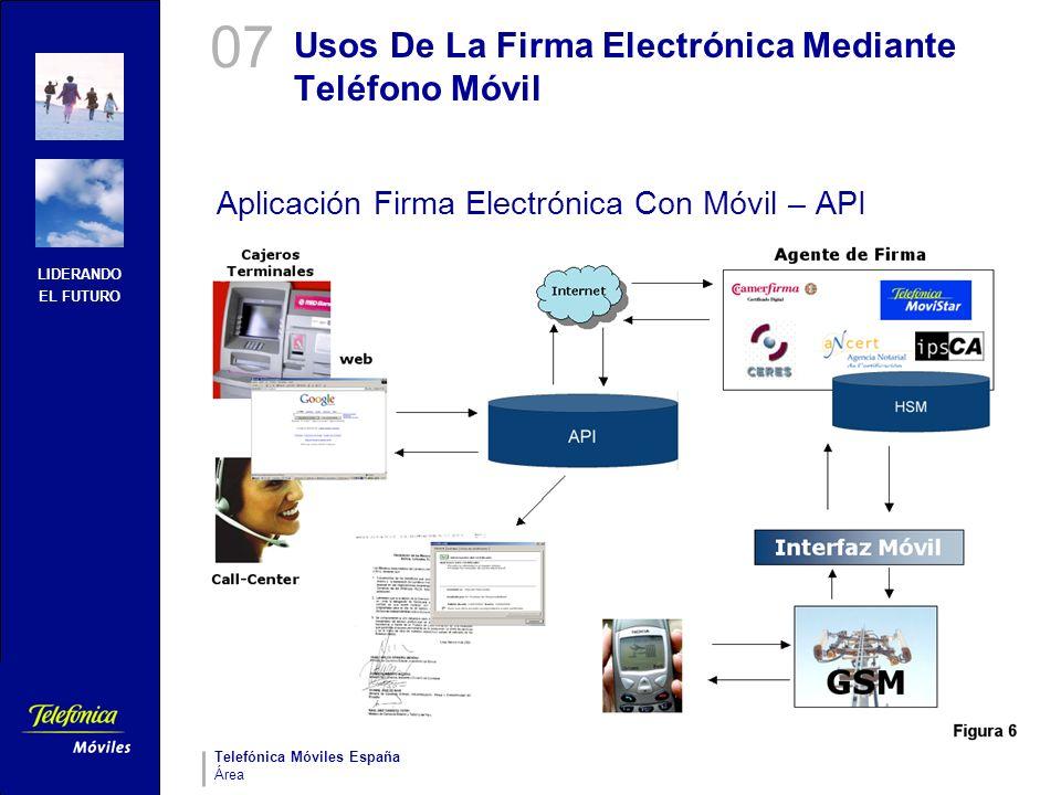 LIDERANDO EL FUTURO Telefónica Móviles España Área Usos De La Firma Electrónica Mediante Teléfono Móvil Aplicación Firma Electrónica Con Móvil – API 0