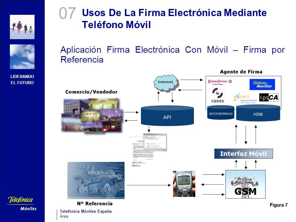 LIDERANDO EL FUTURO Telefónica Móviles España Área Usos De La Firma Electrónica Mediante Teléfono Móvil Aplicación Firma Electrónica Con Móvil – Firma