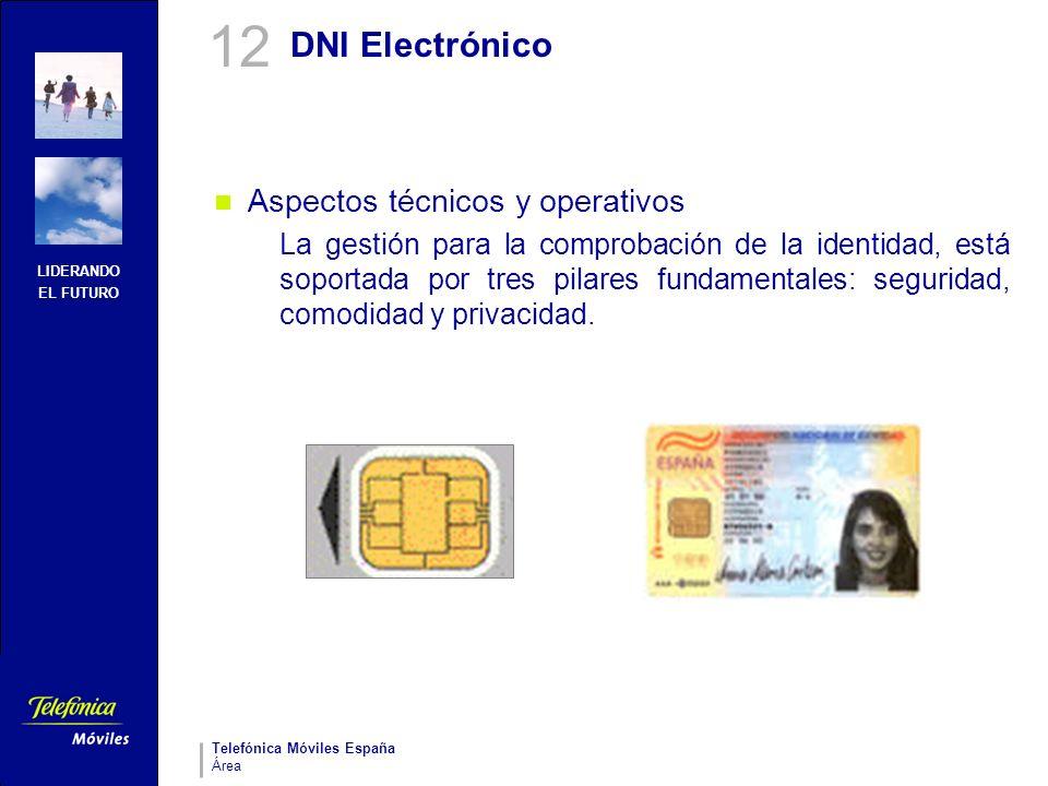 LIDERANDO EL FUTURO Telefónica Móviles España Área DNI Electrónico Aspectos técnicos y operativos La gestión para la comprobación de la identidad, est