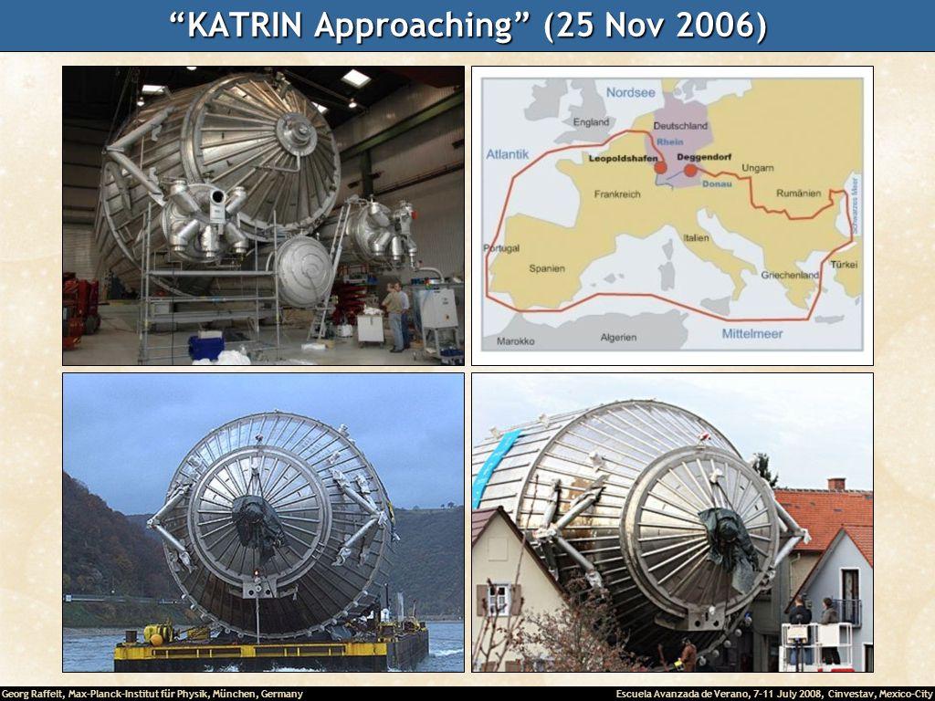 Georg Raffelt, Max-Planck-Institut für Physik, München, Germany Escuela Avanzada de Verano, 7-11 July 2008, Cinvestav, Mexico-City KATRIN Approaching (25 Nov 2006)