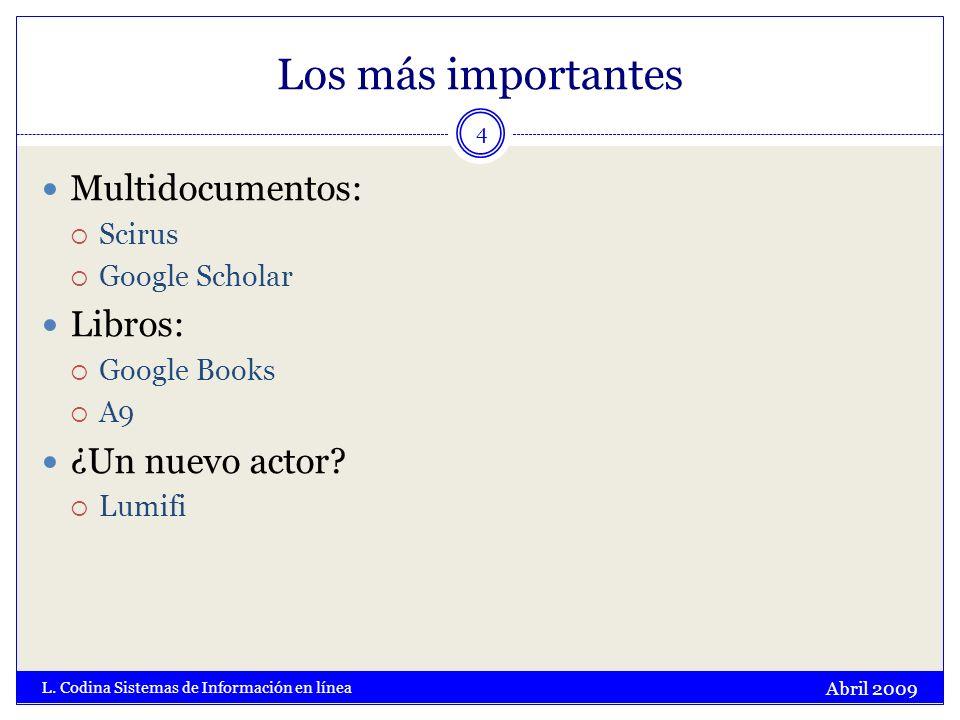 Tipología de documentos Abril 2009 L.