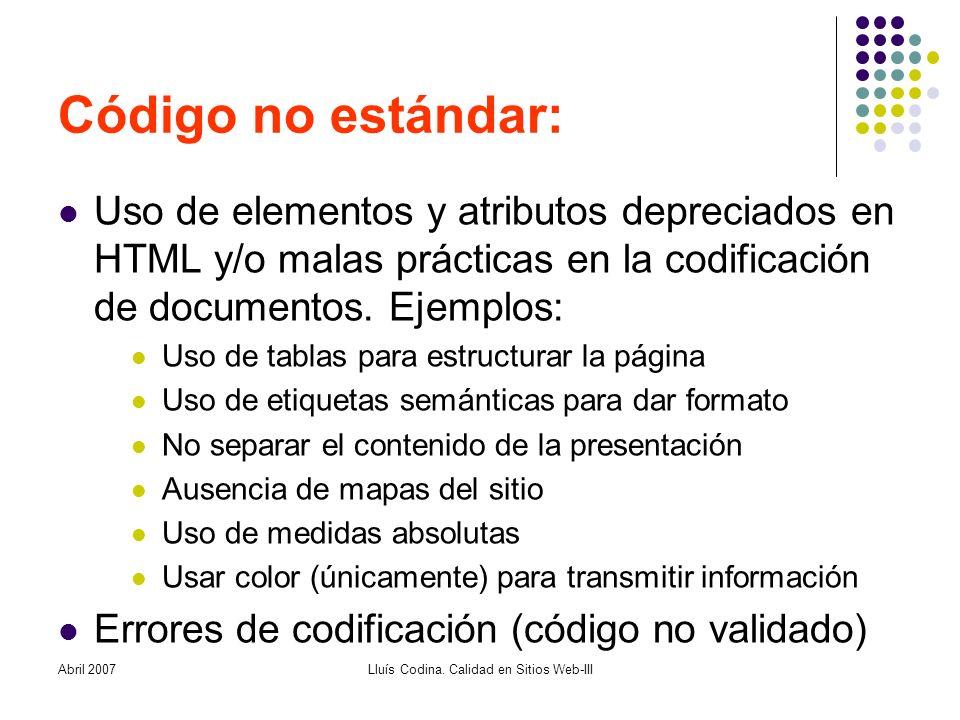 Abril 2007Lluís Codina.