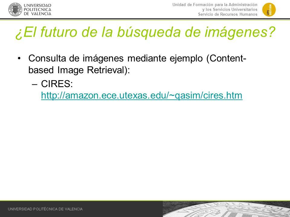 Unidad de Formación para la Administración y los Servicios Universitarios Servicio de Recursos Humanos ¿El futuro de la búsqueda de imágenes? Consulta