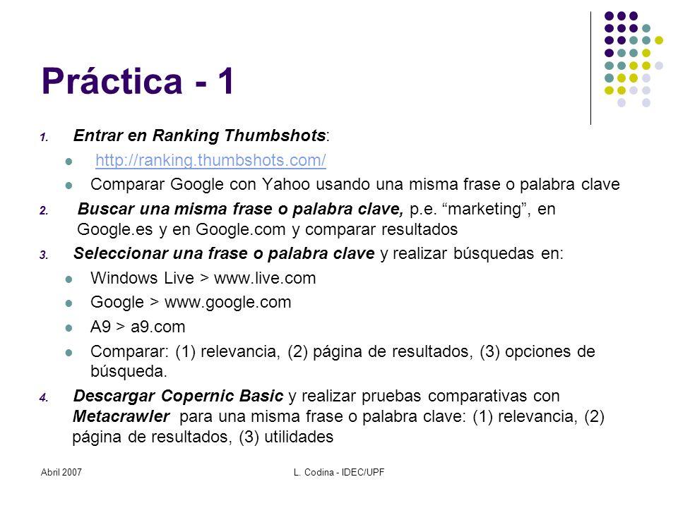 Práctica - 1 1.