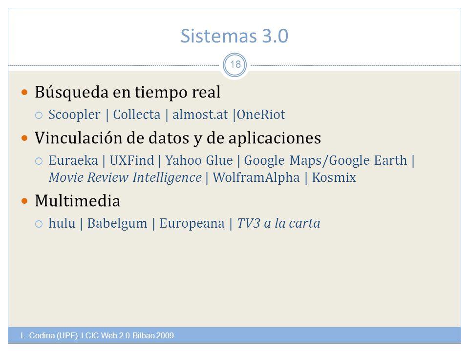 Sistemas 3.0 L. Codina (UPF).