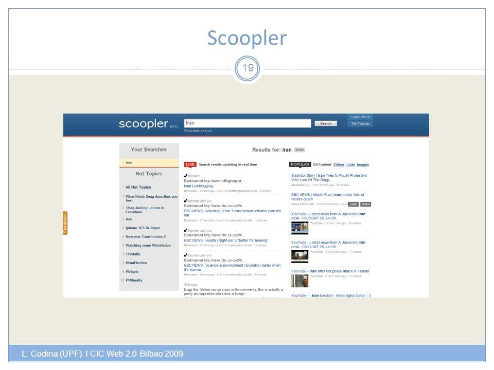 Scoopler L. Codina (UPF). I CIC Web 2.0 Bilbao 2009 19