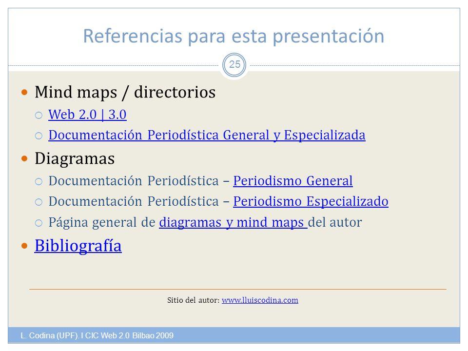 Referencias para esta presentación L. Codina (UPF).