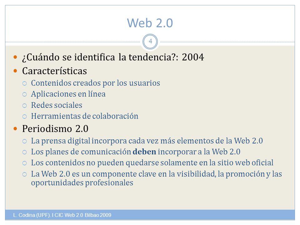 Web 2.0 L. Codina (UPF).