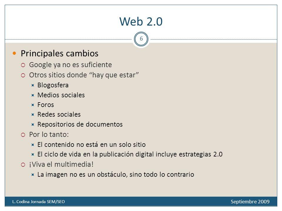 Web 2.0 Septiembre 2009 L.