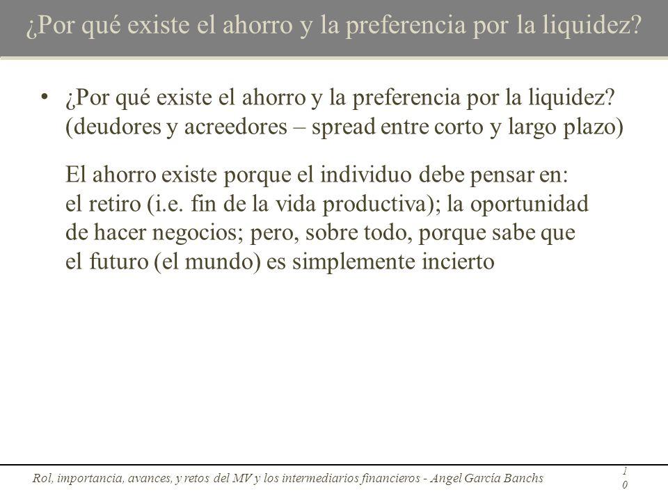 ¿Por qué existe el ahorro y la preferencia por la liquidez? ¿Por qué existe el ahorro y la preferencia por la liquidez? (deudores y acreedores – sprea