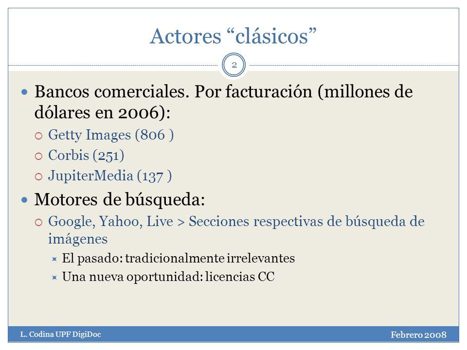 Actores clásicos 2 Bancos comerciales.
