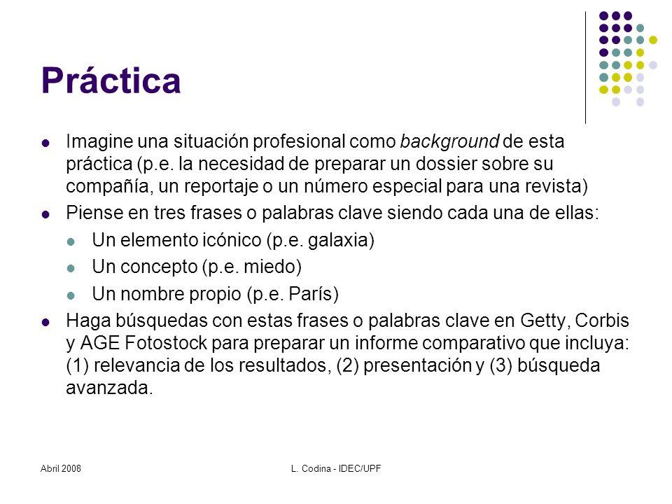 Práctica Imagine una situación profesional como background de esta práctica (p.e.