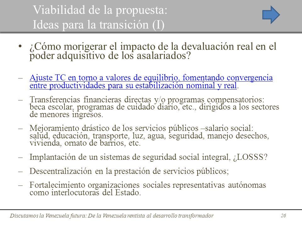 ¿Cómo morigerar el impacto de la devaluación real en el poder adquisitivo de los asalariados? – Ajuste TC en torno a valores de equilibrio, fomentando