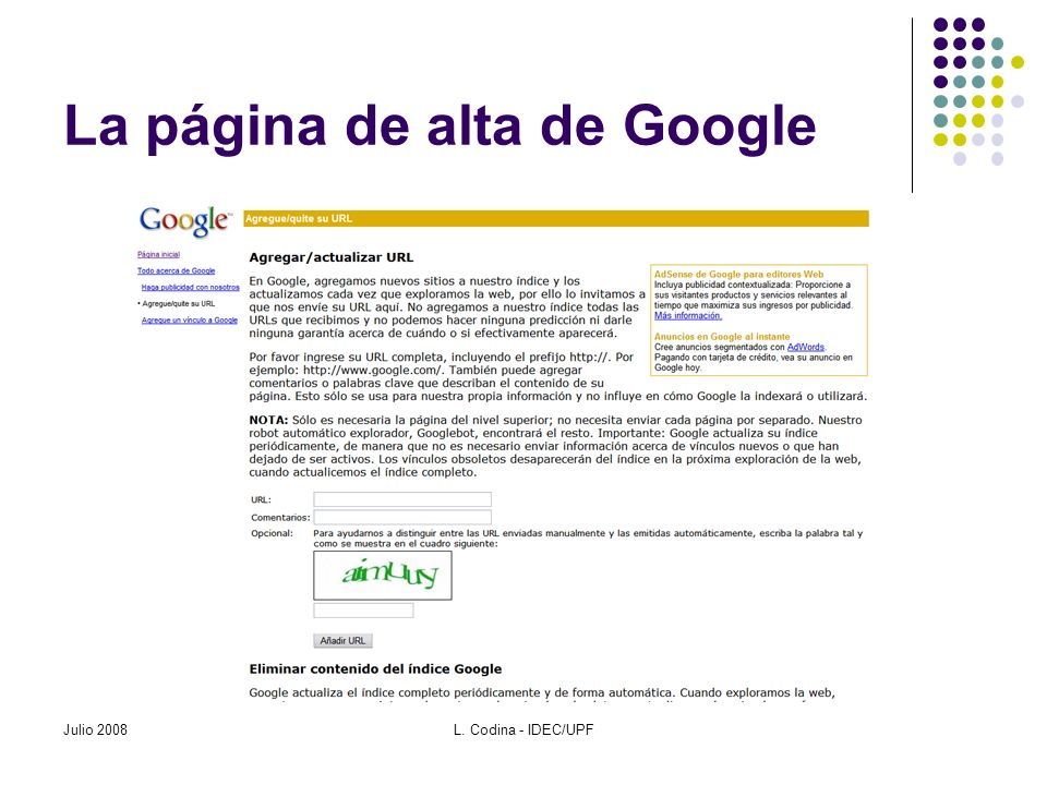 Buscadores de blogs Google Blog Search http://blogsearch.google.es http://blogsearch.google.com/?ui=blg Technorati http://www.technorati.com Julio 2008L.