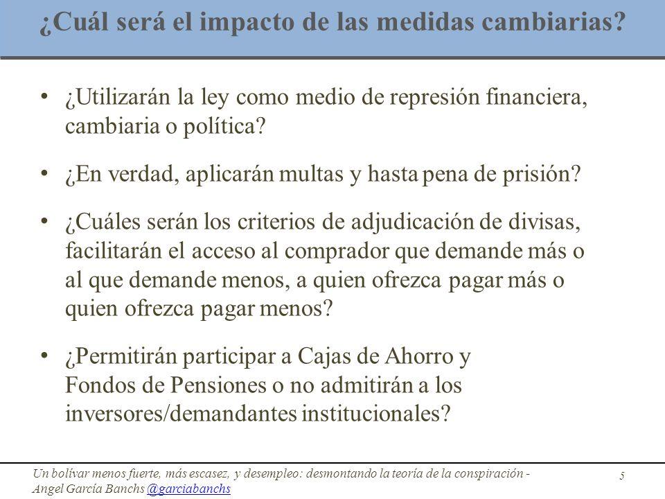 ¿Cuál será el impacto de las medidas cambiarias? ¿Utilizarán la ley como medio de represión financiera, cambiaria o política? ¿En verdad, aplicarán mu