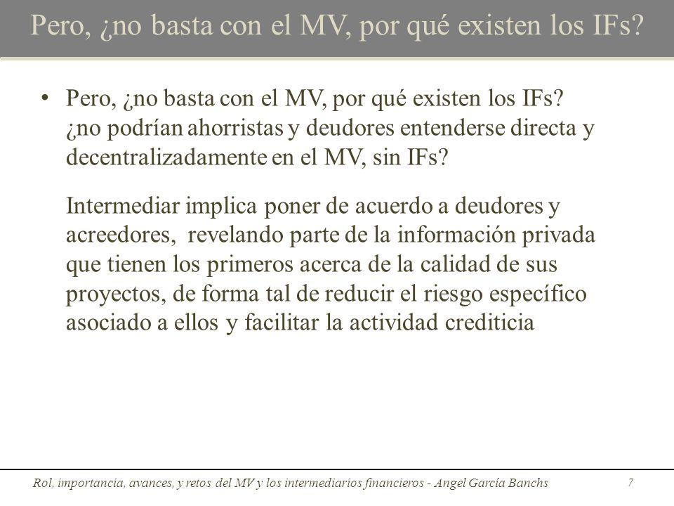 Pero, ¿no basta con el MV, por qué existen los IFs? Pero, ¿no basta con el MV, por qué existen los IFs? ¿no podrían ahorristas y deudores entenderse d