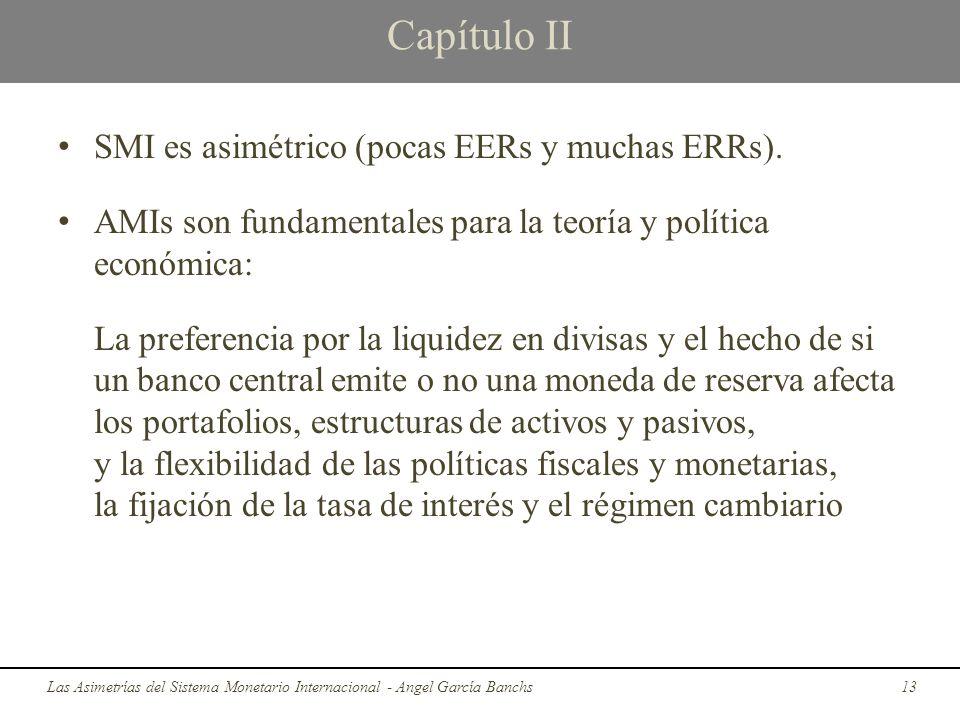 Capítulo II SMI es asimétrico (pocas EERs y muchas ERRs). AMIs son fundamentales para la teoría y política económica: La preferencia por la liquidez e