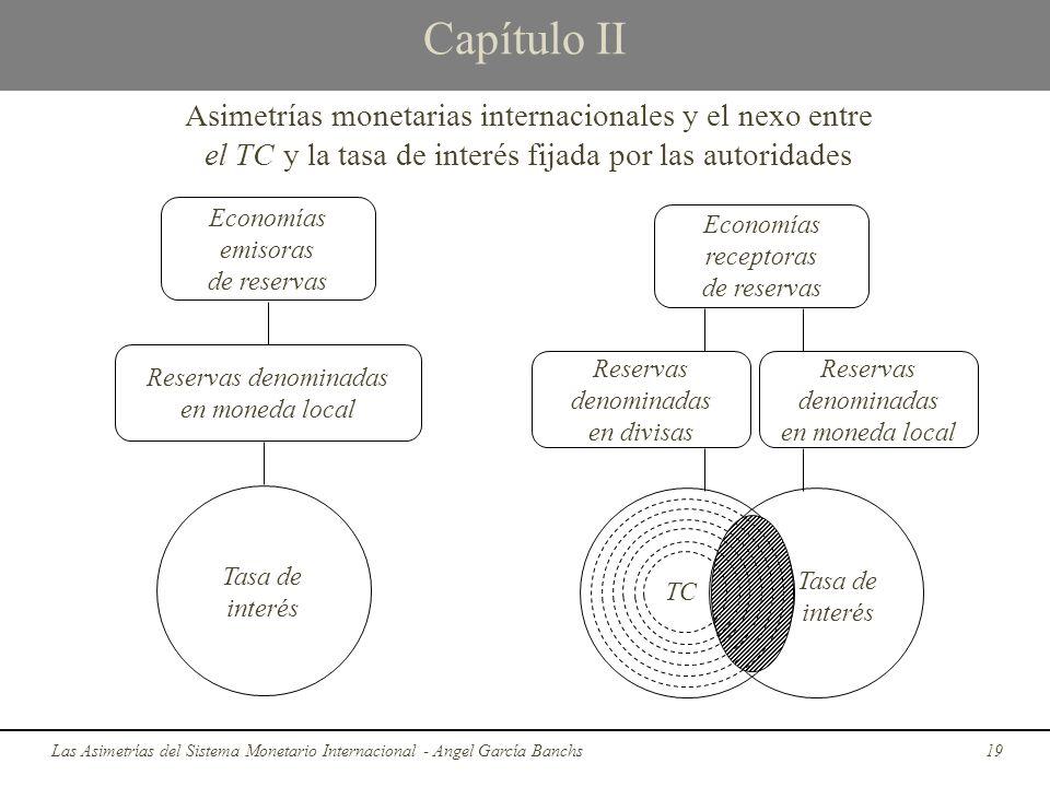 Capítulo II Las Asimetrías del Sistema Monetario Internacional - Angel García Banchs19 Asimetrías monetarias internacionales y el nexo entre el TC y l