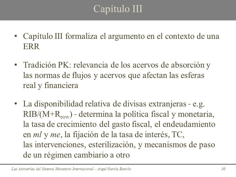 Capítulo III Capítulo III formaliza el argumento en el contexto de una ERR Tradición PK: relevancia de los acervos de absorción y las normas de flujos