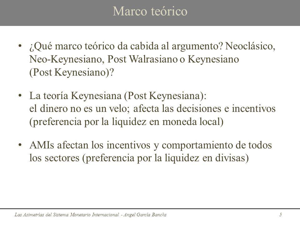 Marco teórico ¿Qué marco teórico da cabida al argumento? Neoclásico, Neo-Keynesiano, Post Walrasiano o Keynesiano (Post Keynesiano)? La teoría Keynesi
