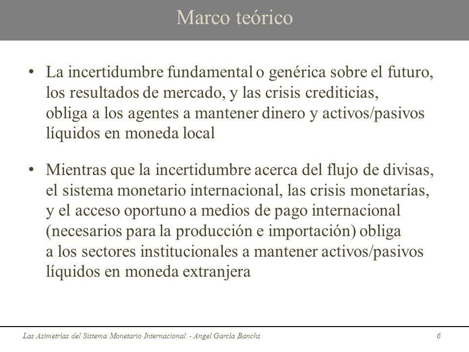 Marco teórico La incertidumbre fundamental o genérica sobre el futuro, los resultados de mercado, y las crisis crediticias, obliga a los agentes a man
