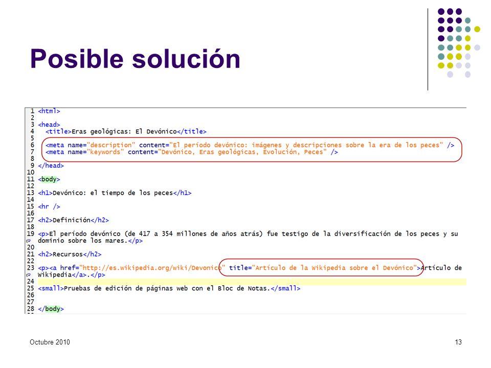 Posible solución Octubre 201013