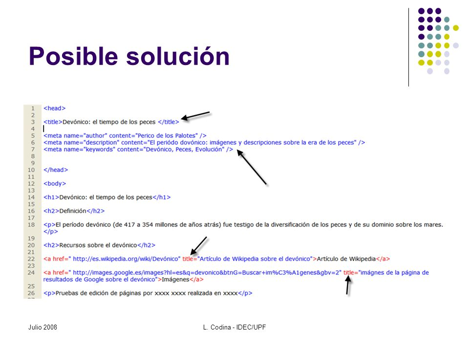Posible solución Julio 2008L. Codina - IDEC/UPF