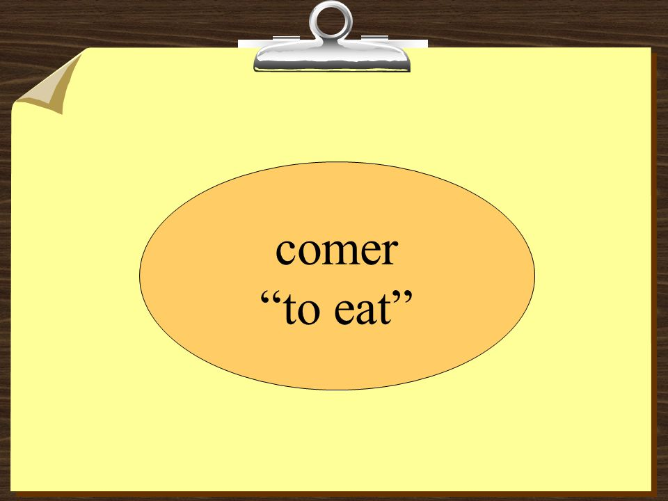 Beto ____________ una hamburguesa en el restaurante. como comes come comemos comen