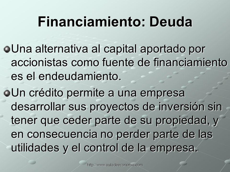http://www.auladeeconomia.com LAS INSTITUCIONES FINANCIERAS Las instituciones financieras desempeñan tres funciones básicas en los mercados financieros: 1.Distribución de activos a las carteras de los inversionistas que desean poseerlos.