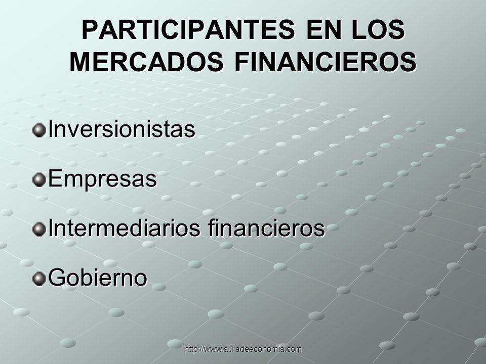 http://www.auladeeconomia.com LOS INVERSIONISTAS
