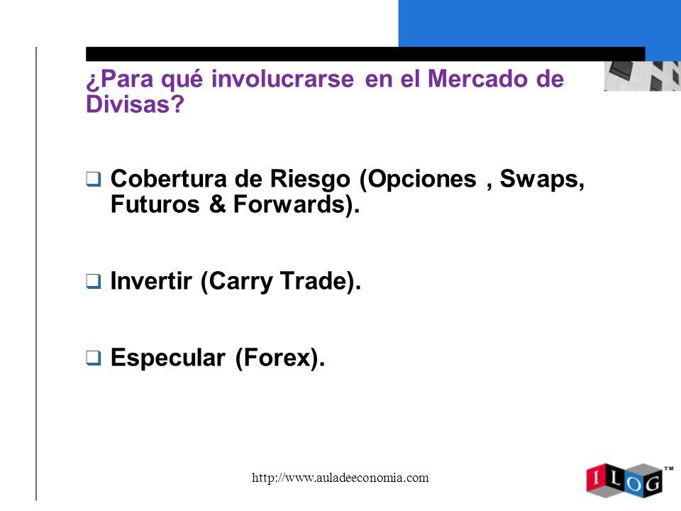 http://www.auladeeconomia.com Crecimiento del Mercado de Divisas